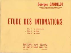 Etude des Intonations - les Dièzes : Cahier 2 DANDELOT laflutedepan