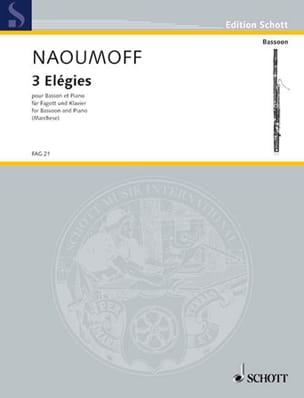 3 Elégies Emile Naoumoff Partition Basson - laflutedepan