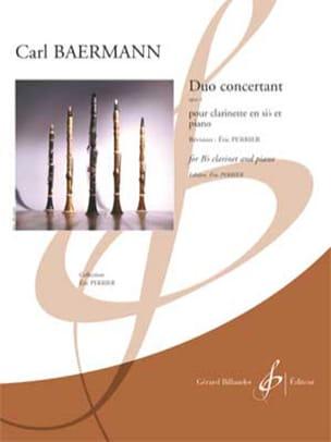 Duo Concertant, op. 4 - Clarinette et piano Carl Baermann laflutedepan