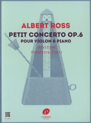 Petit concerto, op. 6 - Violon et piano Albert Ross laflutedepan