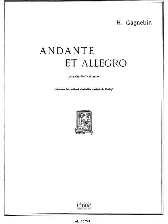 Andante et Allegro - Henri Gagnebin - Partition - laflutedepan.com