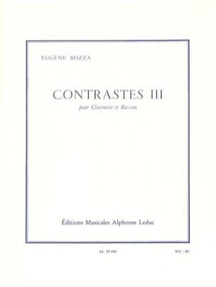 Contrastes 3 Eugène Bozza Partition Duos - laflutedepan