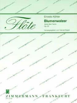 Blumenwalzer - 2 Flöten Klavier Ernesto KÖHLER Partition laflutedepan