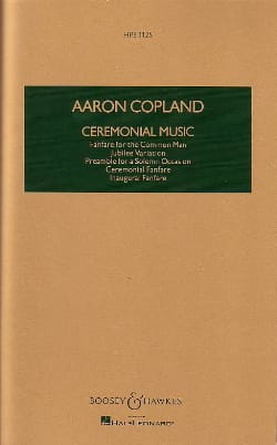Ceremonial Music COPLAND Partition Grand format - laflutedepan