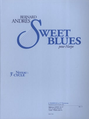 Sweet Blues Bernard Andrès Partition Harpe - laflutedepan