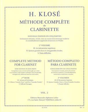 Méthode Complète de Clarinette Volume 2 Hyacinthe Klosé laflutedepan