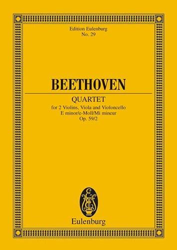 Streichquartett E-moll op. 59/2 - BEETHOVEN - laflutedepan.com