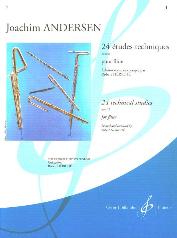 24 Etudes techniques op. 63 - Volume 1 - ANDERSEN - laflutedepan.com