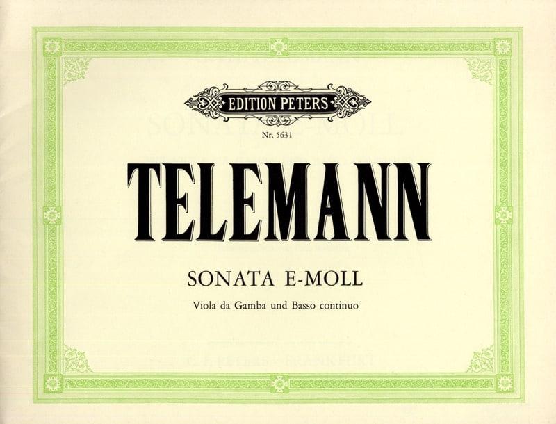 Sonata e-moll - Viola da gamba basso continuo - laflutedepan.com