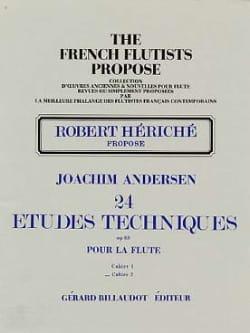 24 Etudes techniques op. 63 - Volume 2 - ANDERSEN - laflutedepan.com