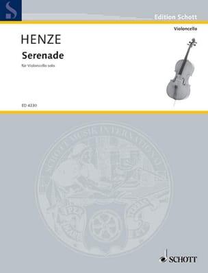 Serenade Hans Werner Henze Partition Violoncelle - laflutedepan