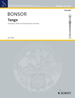 Tango -descant, treble, tenor recorders piano laflutedepan