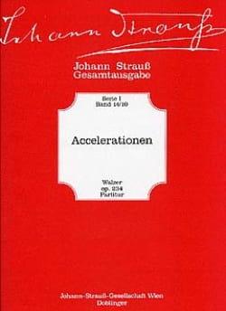 Accelerationen Johann (Fils) Strauss Partition laflutedepan