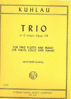 Trio in G major op. 119 -2 Flutes piano Friedrich Kuhlau laflutedepan