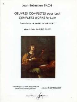 Oeuvres complètes pour luth - Volume 1 : Suites n° 1 et 2 laflutedepan