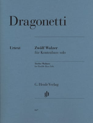 12 Valses pour contrebasse seule Domenico Dragonetti laflutedepan