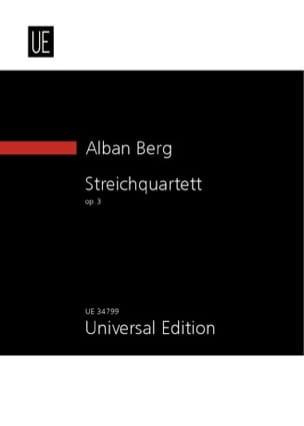 Alban Berg - Streichquartett Op.3 1910 - Partition - di-arezzo.fr