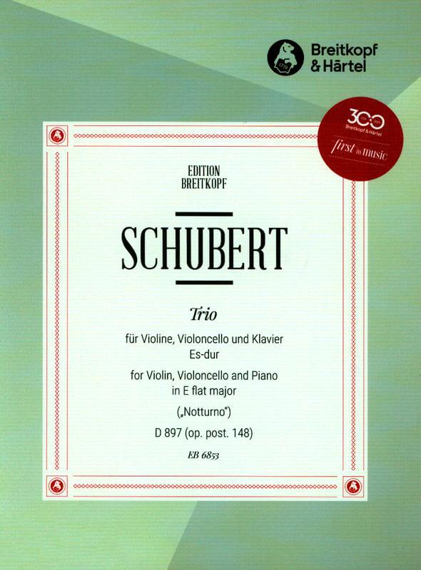 Trio Notturno Es-Dur D 897 - SCHUBERT - Partition - laflutedepan.com