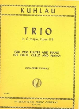 Trio in G major op. 119 -2 Flutes piano - laflutedepan.com