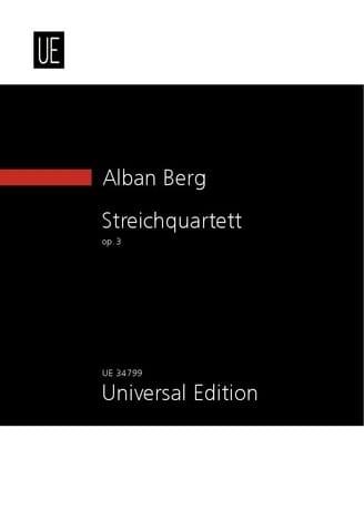 Streichquartett Op.3 1910 - BERG - Partition - laflutedepan.com