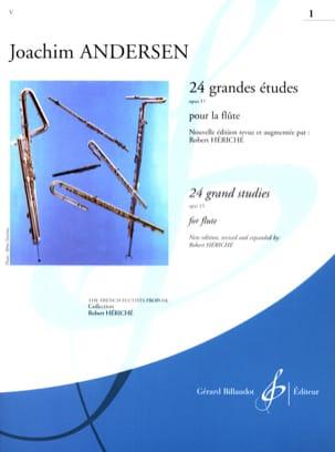 24 Grandes études op. 15 - Volume 1 ANDERSEN Partition laflutedepan