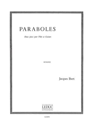 Paraboles - Flûte guitare IBERT Partition Duos - laflutedepan