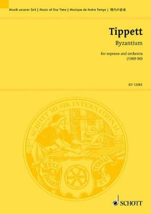 Byzantium -Score Michael Tippett Partition laflutedepan