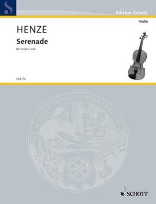 Serenade - Violon - Hans Werner Henze - Partition - laflutedepan.com
