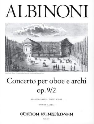 Concerto per oboe op. 9 n° 2 ALBINONI Partition laflutedepan