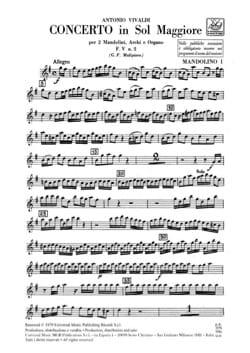 Concerto en Sol Maj. - F. 5 n° 2 -Set Matériel VIVALDI laflutedepan