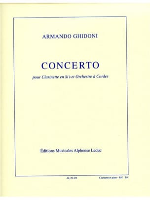 Concerto pour clarinette Armando Ghidoni Partition laflutedepan