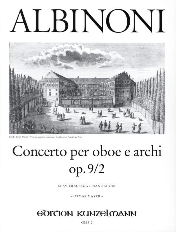 Concerto per oboe op. 9 n° 2 - ALBINONI - Partition - laflutedepan.com