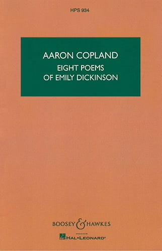 Eight Poems of Emily Dickinson - COPLAND - laflutedepan.com