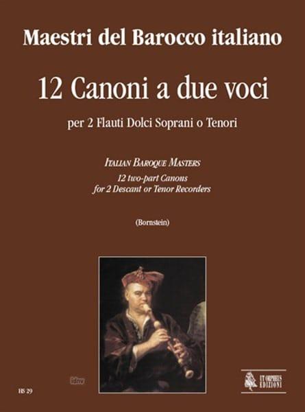 12 Canoni A Due Voci - Partition - Flûte à bec - laflutedepan.com