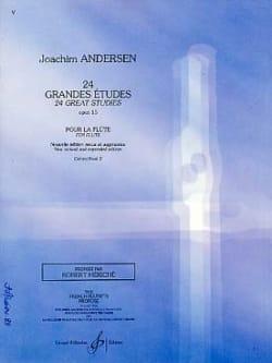 24 Grandes études op. 15 - Volume 2 ANDERSEN Partition laflutedepan