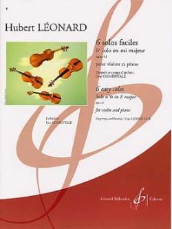 6ème Solo en mi majeur op. 41 Hubert Léonard Partition laflutedepan