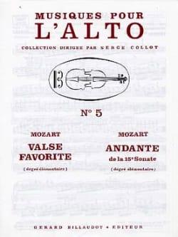 Valse favorite / Andante de la 15e Sonate MOZART laflutedepan