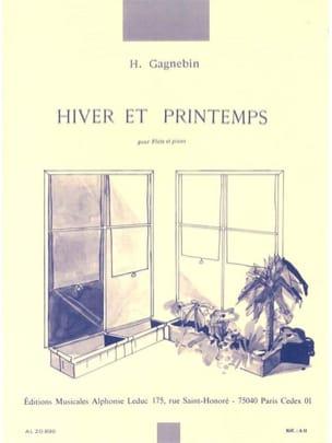 Hiver et printemps Henri Gagnebin Partition laflutedepan