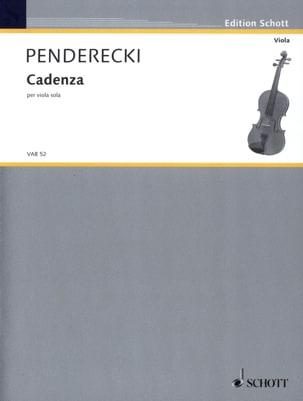 Cadenza - Viola PENDERECKI Partition Alto - laflutedepan