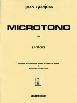 Microtono - Violon Joan Guinjoan Partition Violon - laflutedepan