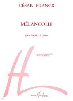 Mélancolie FRANCK Partition Violon - laflutedepan