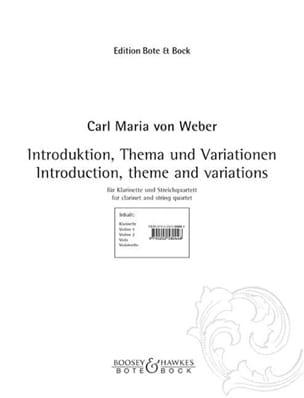 Introduktion, Thema und Variationen -Klarinette Streichquartett laflutedepan