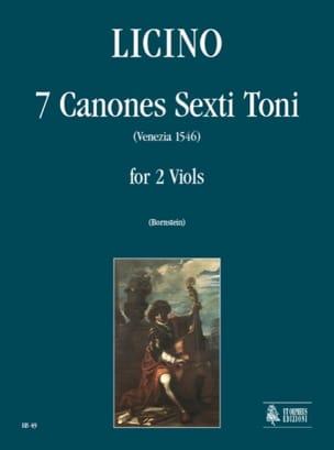 7 Canones Sexti Toni Agostino Licino Partition laflutedepan