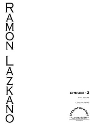 Errobi 2 - Ramon Lazkano - Partition - Grand format - laflutedepan.com