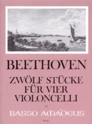 12 Stücke - 4 Violoncelli - BEETHOVEN - Partition - laflutedepan.com