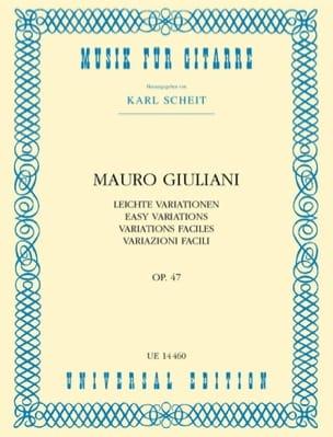Variazioni facili op. 47 Mauro Giuliani Partition laflutedepan