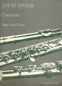 Concerto op. 47 - Flûte piano SPOHR Partition laflutedepan