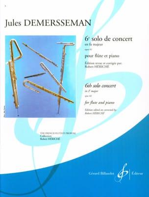 6ème Solo de concert fa majeur op. 82 - Flûte piano laflutedepan