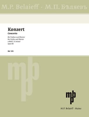 Concerto Violon en la Mineur Opus 82 Alexandre Glazounov laflutedepan