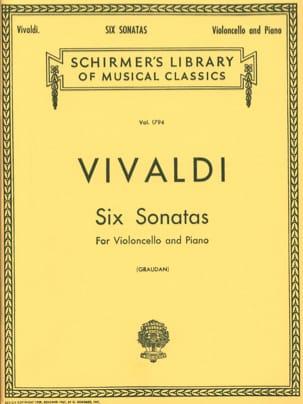 6 Sonates - Violoncelle VIVALDI Partition Violoncelle - laflutedepan